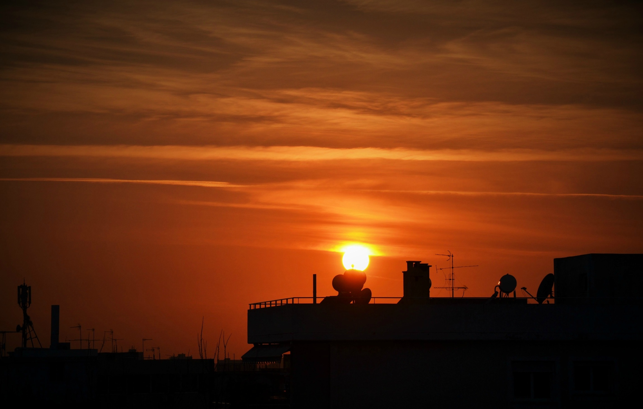 ...an urban sunset.. by angeliki