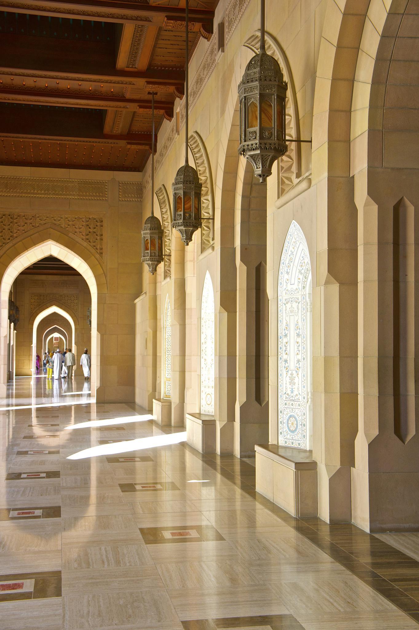 Grand Mosque Interior by Jacqui Shepherd