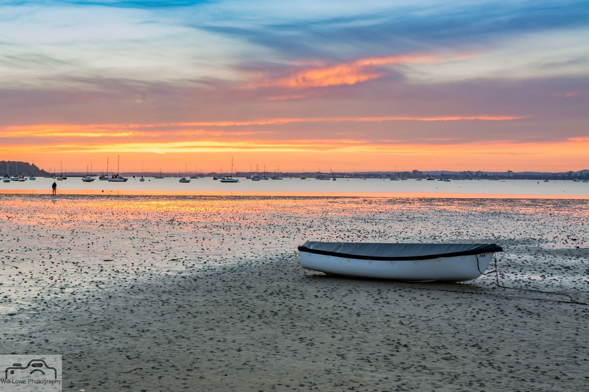Beached at Sunset  by Will Lowe Photography