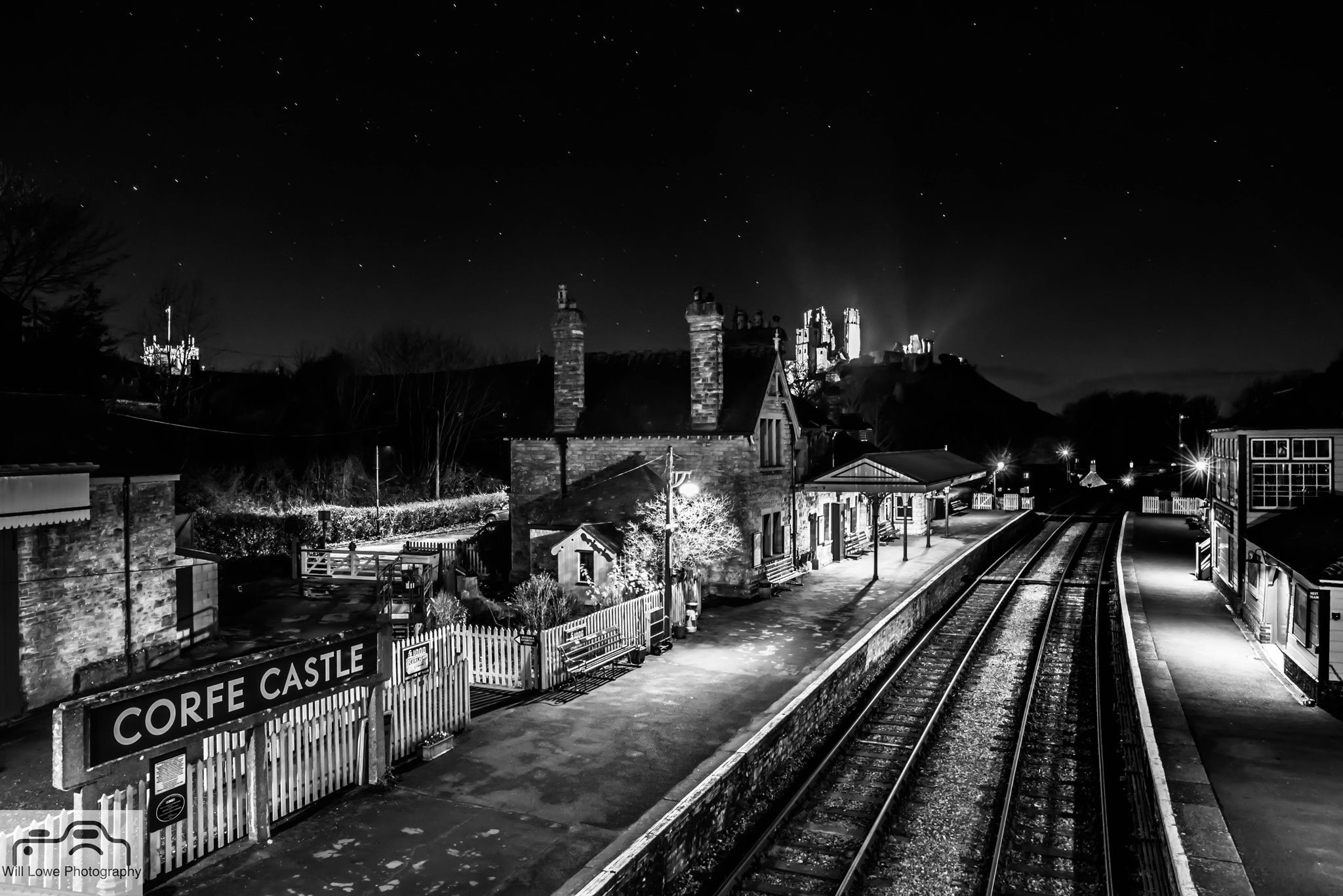 Corfe Castle Railway Station by Will Lowe Photography