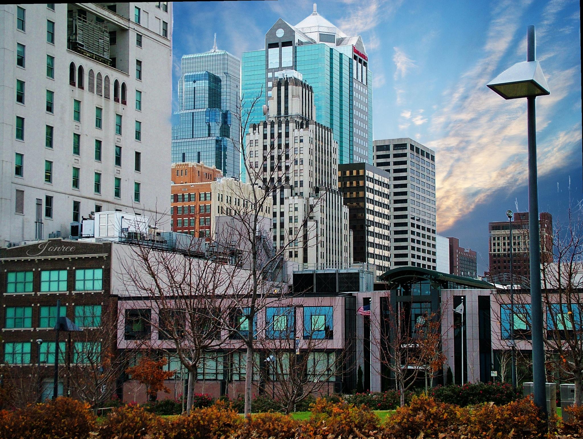 Downtown Kansas City viewed from East Side by Lorenzo (Larry) Jonree