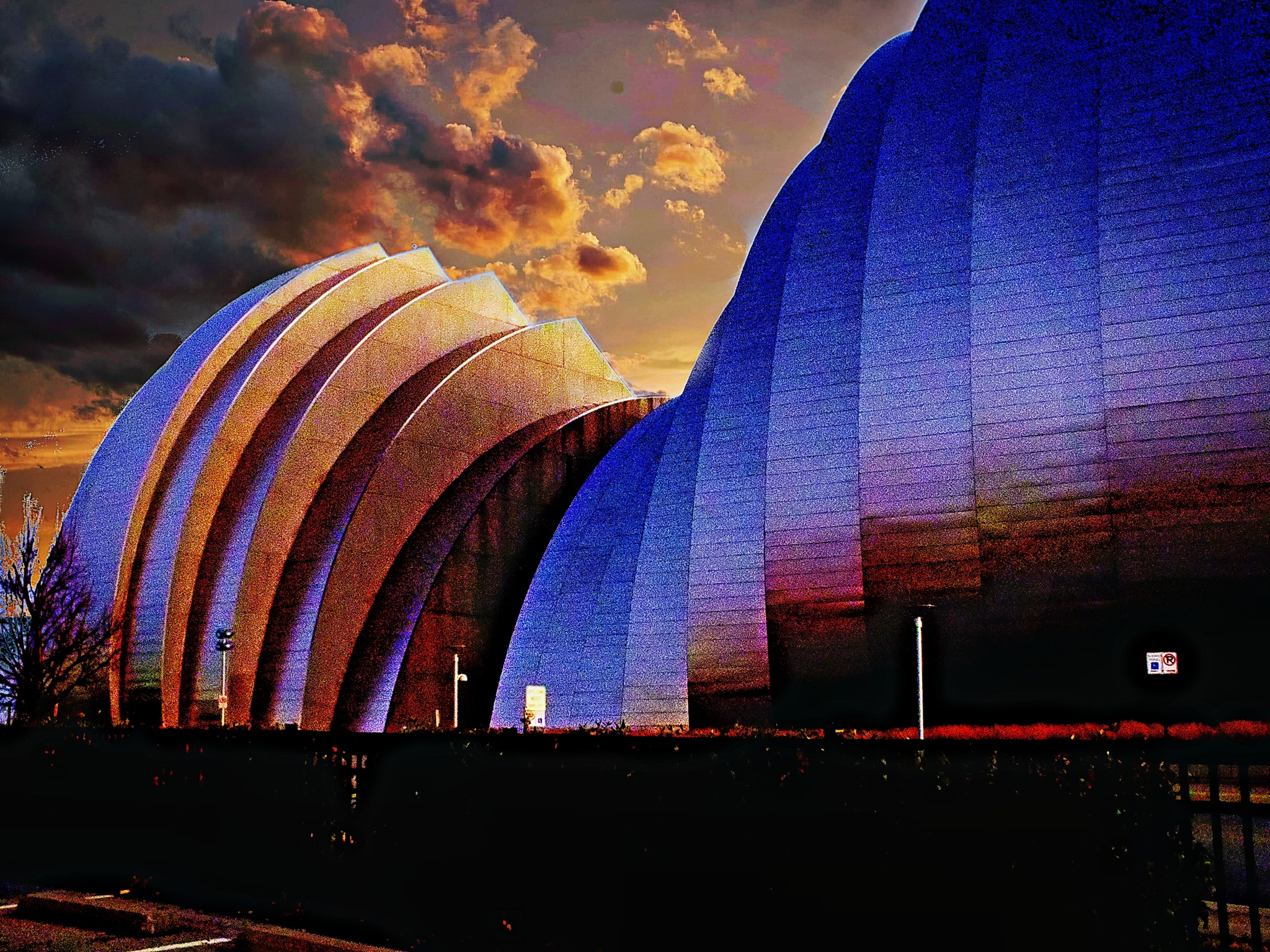 Approaching Storm Over Kauffman Center For The Performing Arts by Lorenzo (Larry) Jonree