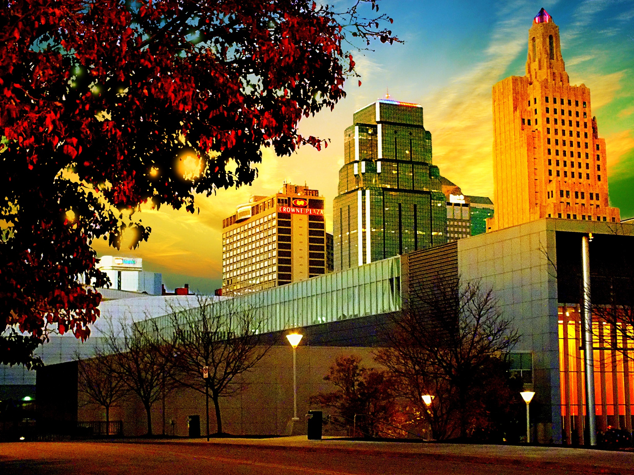 Early Evening, Late Autumn In Downtown Kansas City  by Lorenzo (Larry) Jonree
