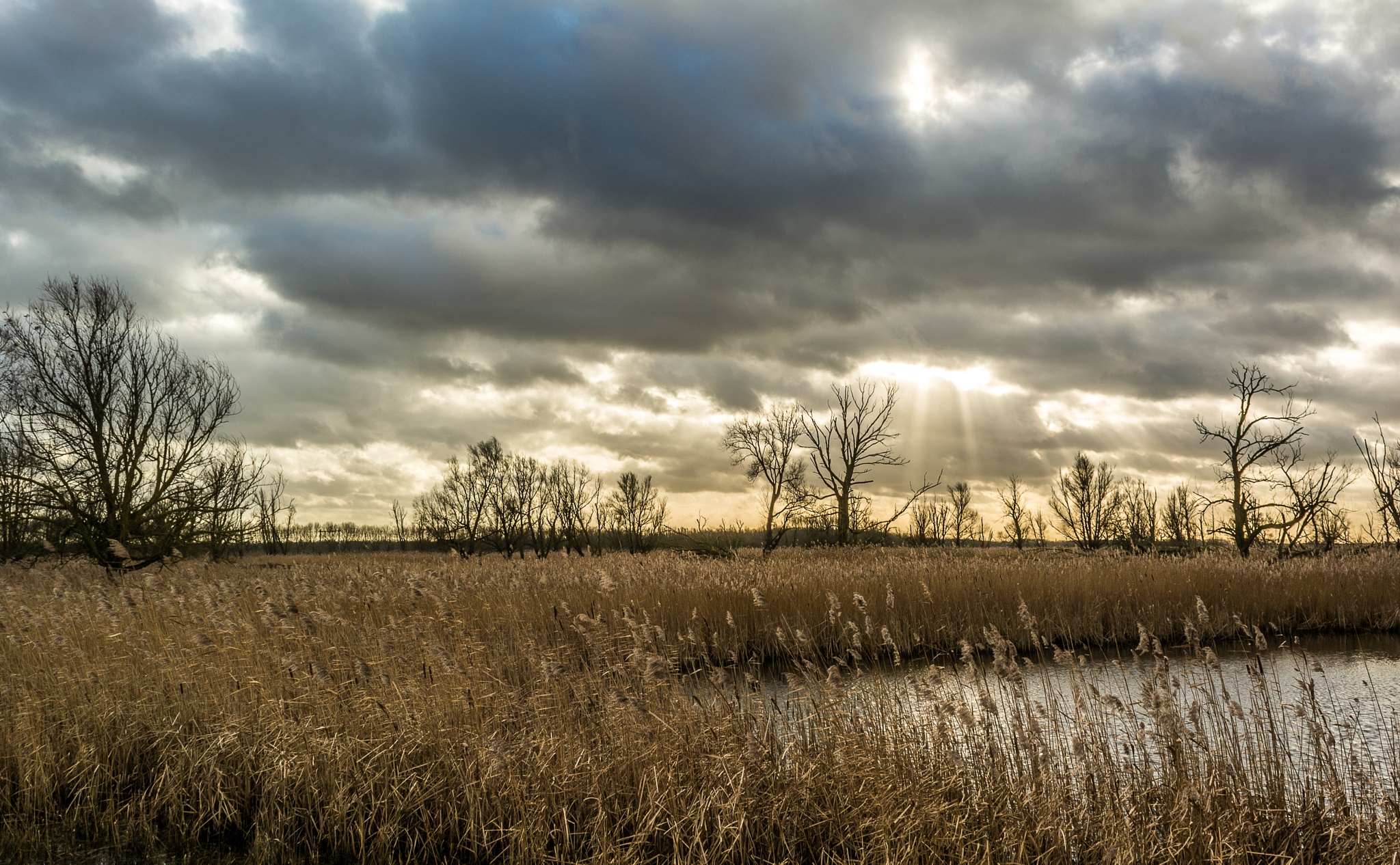 sun clouds water oh what a day by Hans Hoogers