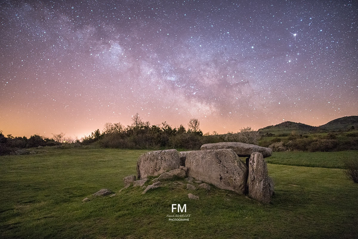 Photo in Astrophotography #milky way #landscape #dolmen #nightscape #nature #www.fr