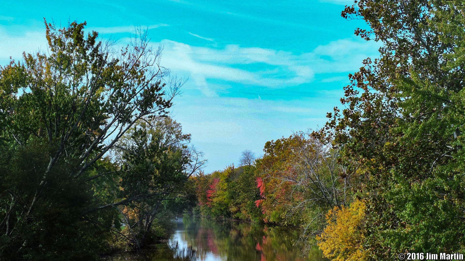 View Down the Blanchard by Jim Martin