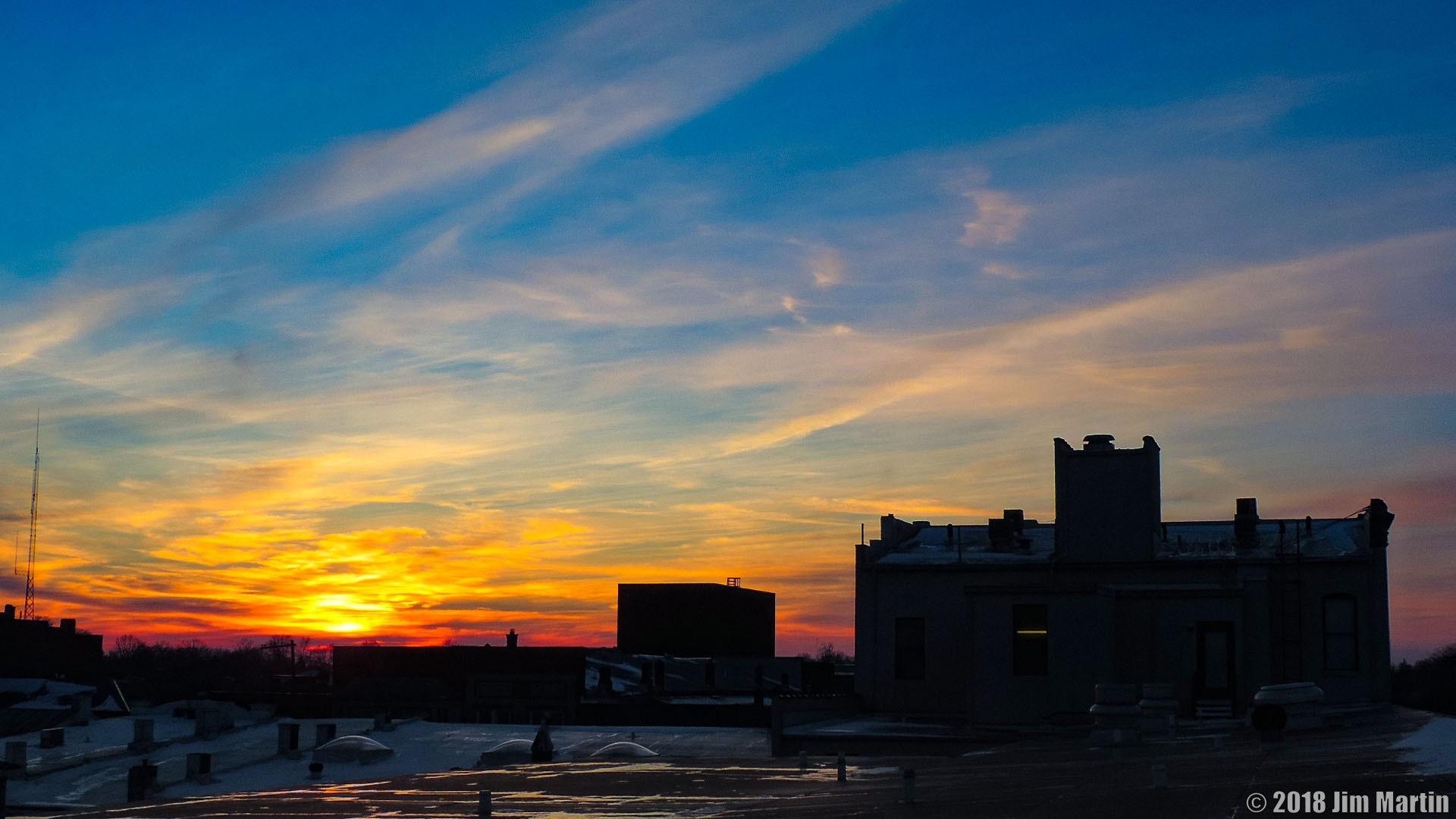 Winter Sunset by Jim Martin
