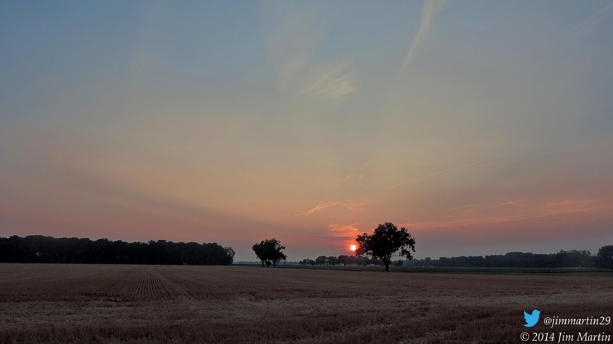Hazy Sunset by Jim Martin