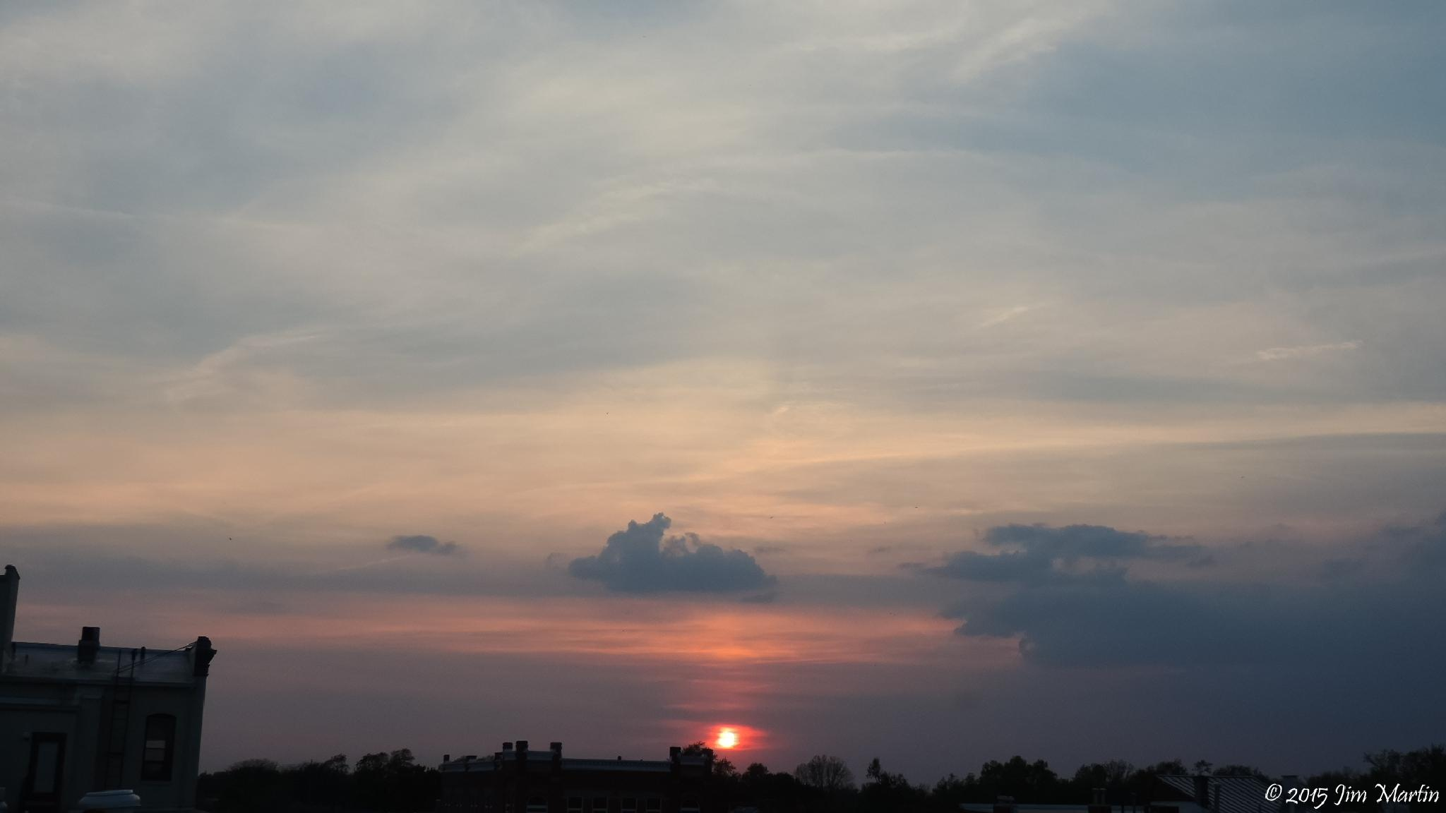 Downtown Findlay Sunset 5/7/2015 by Jim Martin