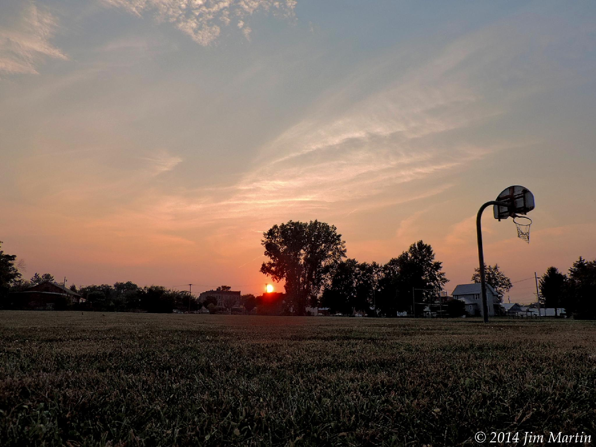 Ground Level Sunset by Jim Martin