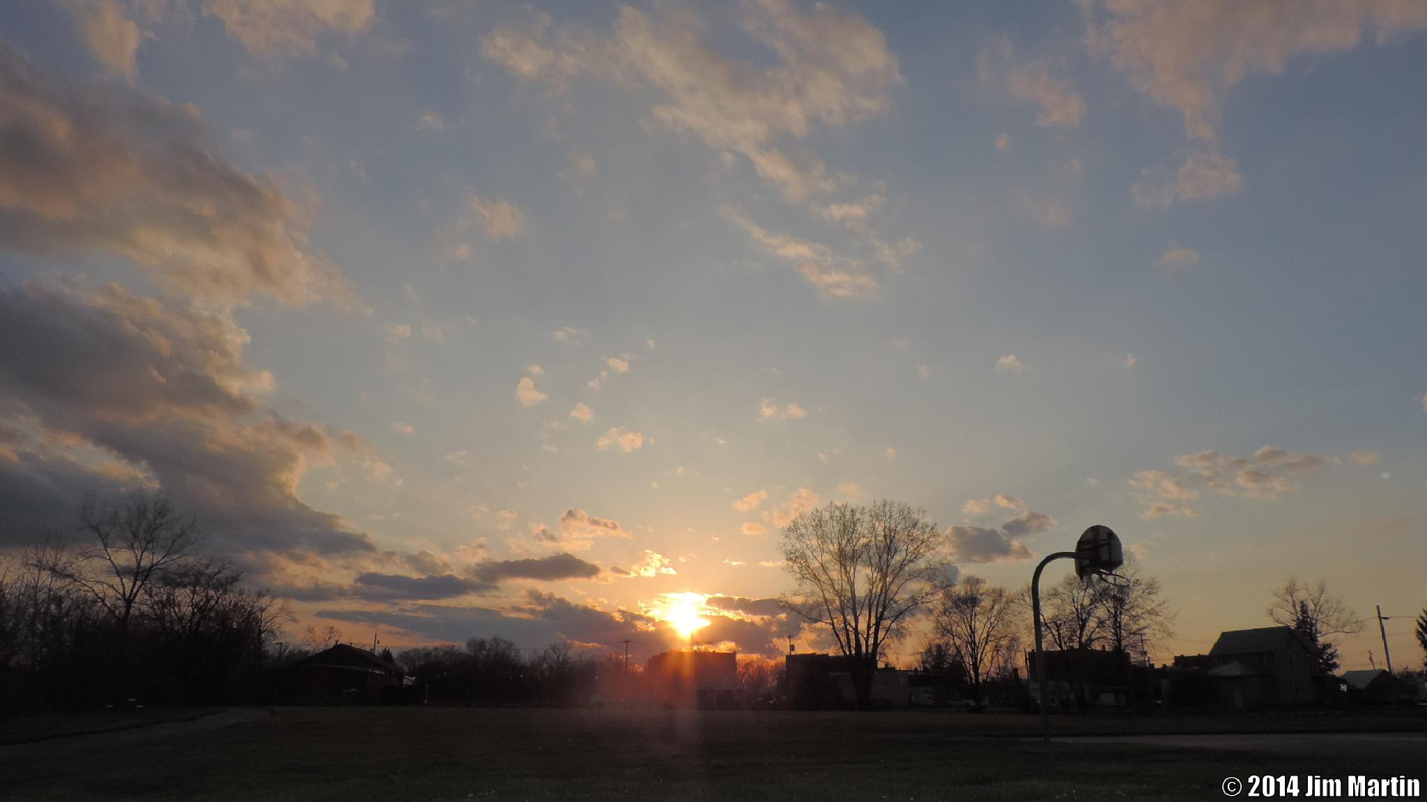 Early May Sunset by Jim Martin