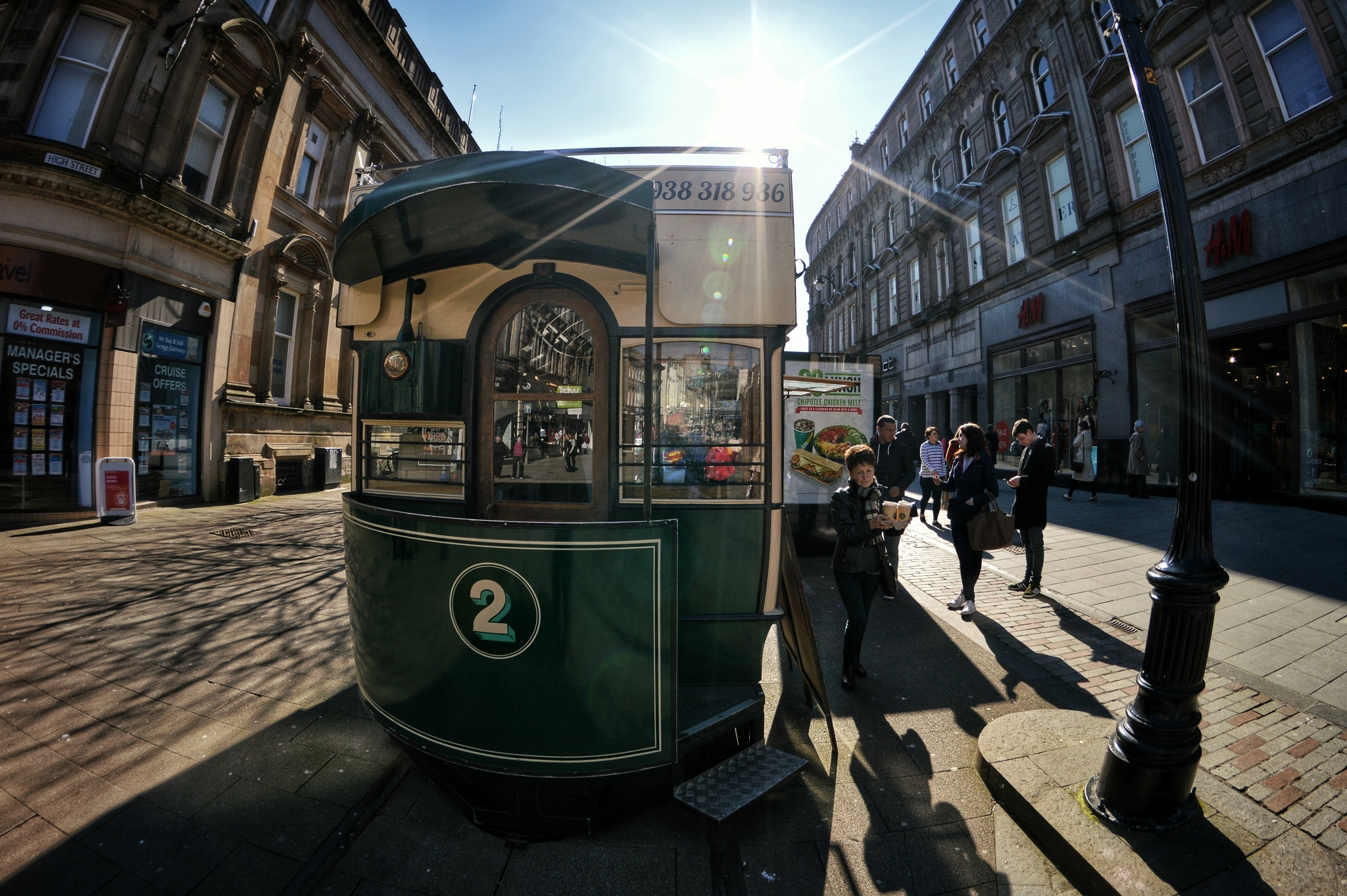 Photo in Street Photography #street photography #street #8mm #fisheye #scotland #dundee #nikon #sunny