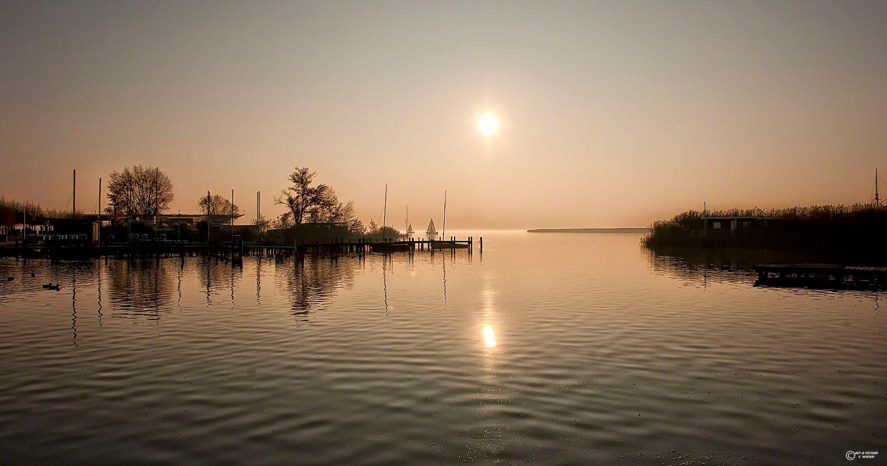 Lake Neusiedlersee by Friedrich Wieser