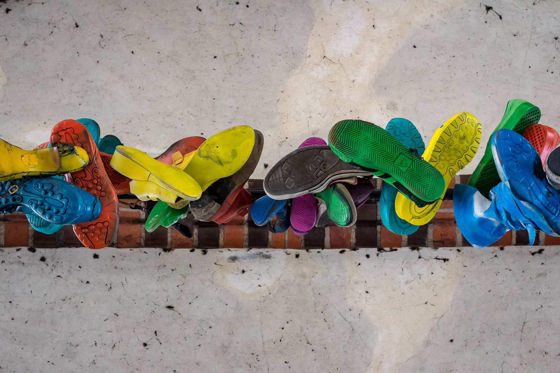 Shoes hanging down by JeckstadtPhotography