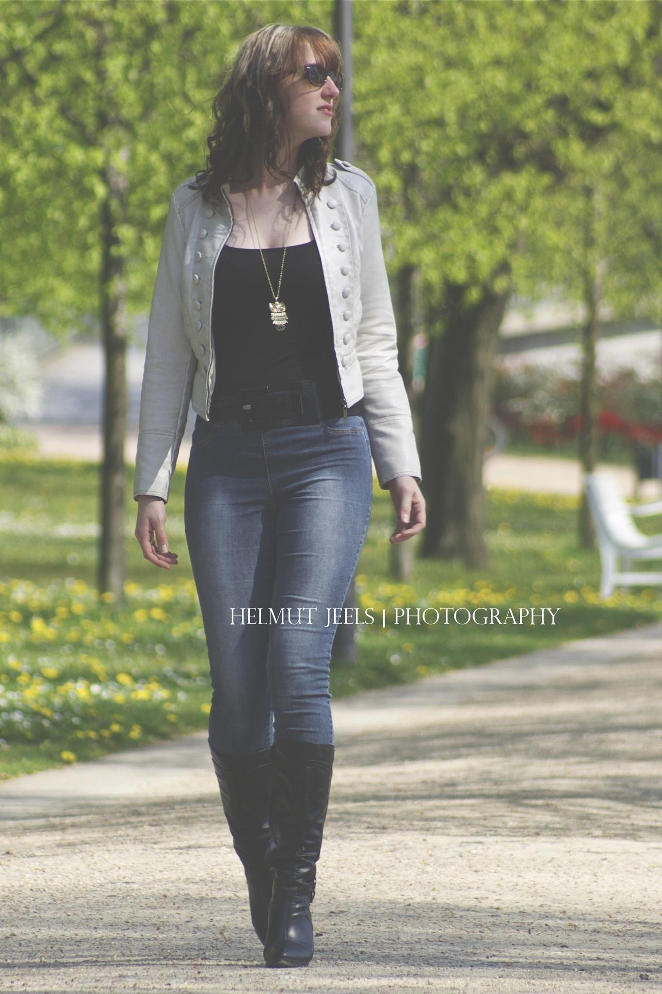 walking in the park by Helmut Jeels