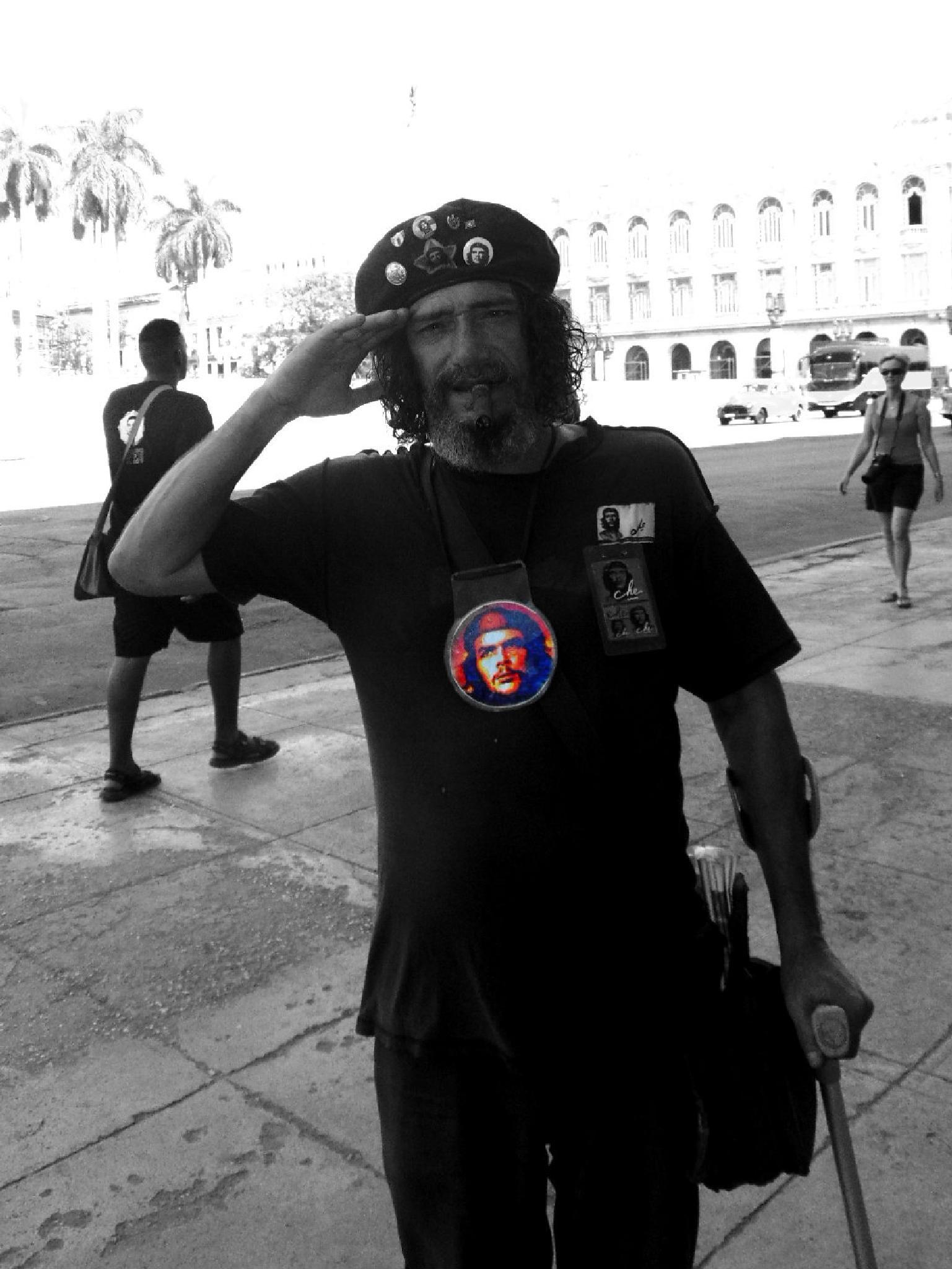 Photo in Portrait #cuba #havana #che #cheguevara #cuban_man #men #cigar #cuba_cigar #bw #cuba2015 #havana2015