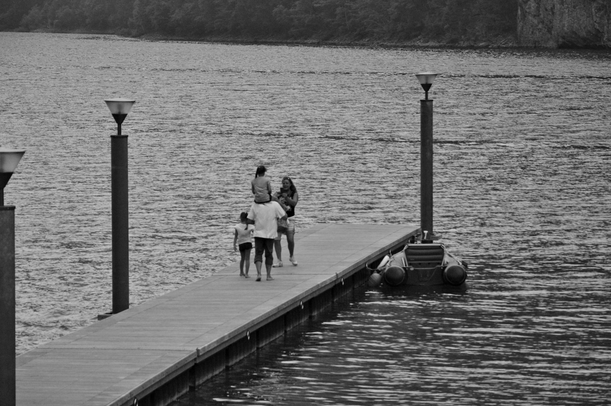 Photo in Random #people #black and white #lake #nature #mountains