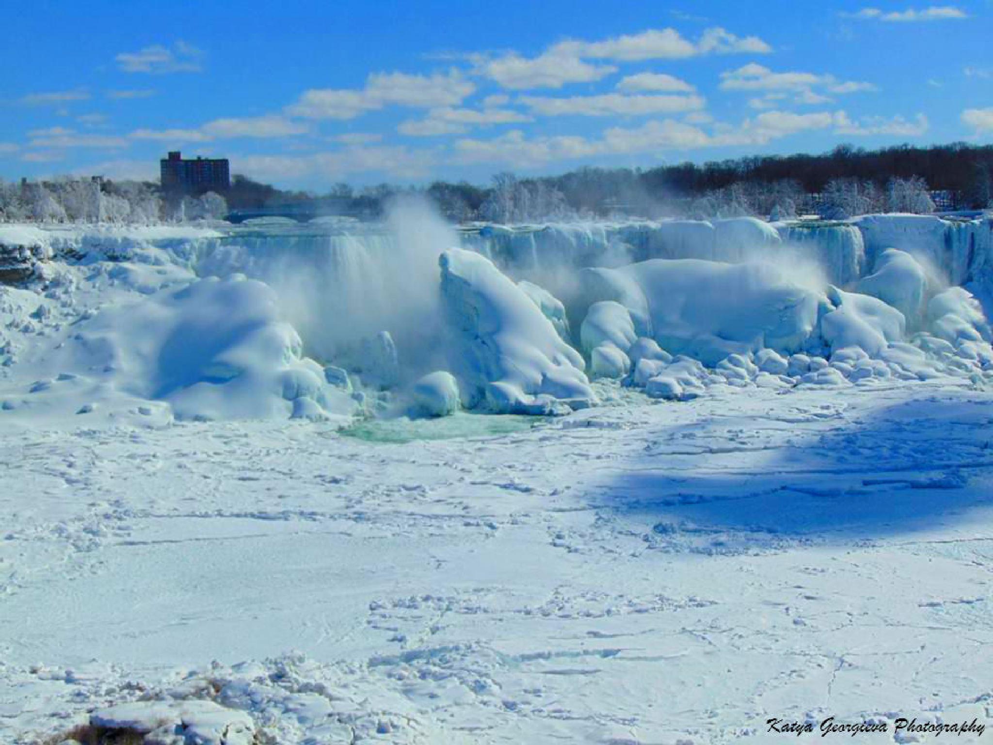 Niagara Falls Ontario & Frozen USA Falls by Katya Georgieva Photography