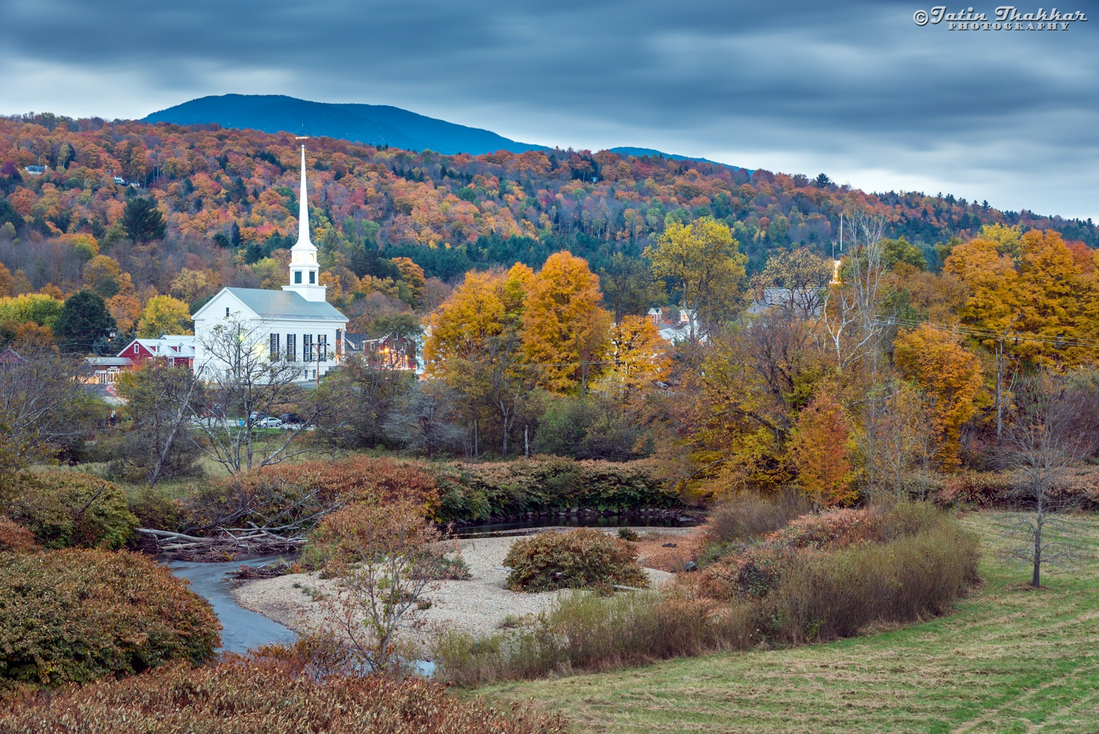 Community Church and Fall Colors by Jatinkumar Thakkar