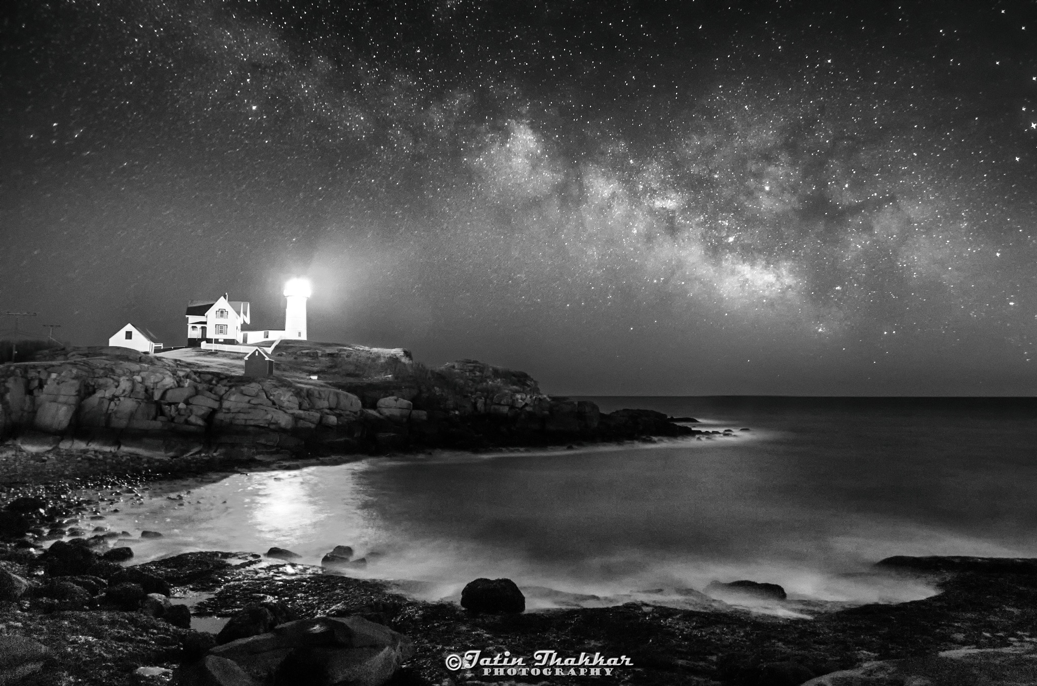 Nubble at Night by Jatinkumar Thakkar