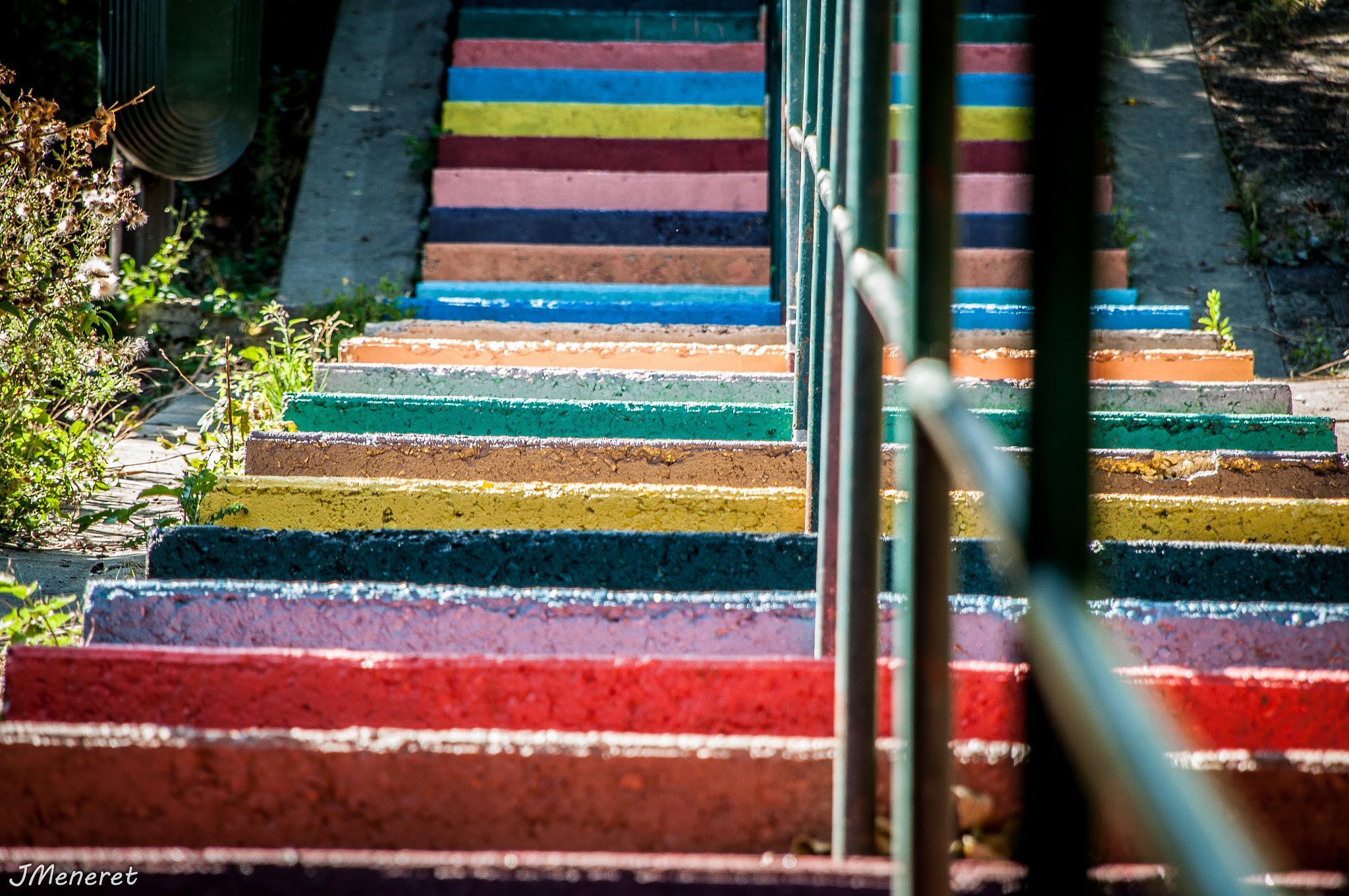 Multicolor Stairs by Julien Meneret