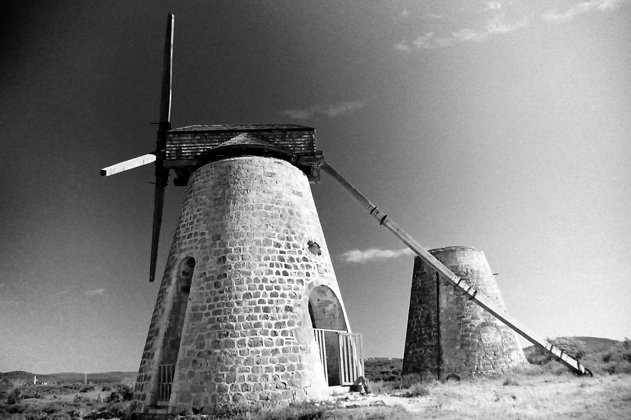 Nevis Sugar Cane windmills by Warren