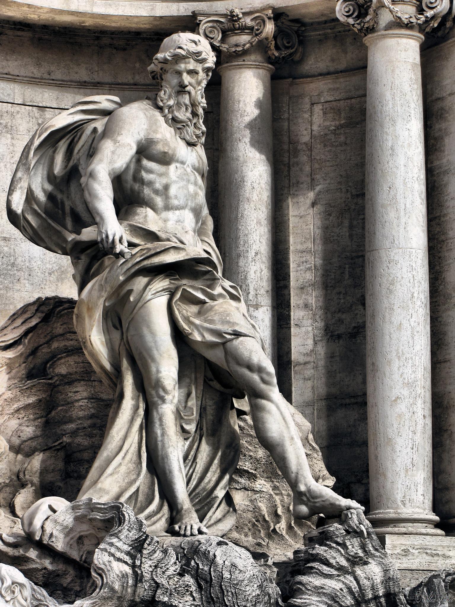 Fontana di Trevi (detail) by +Alex Taller