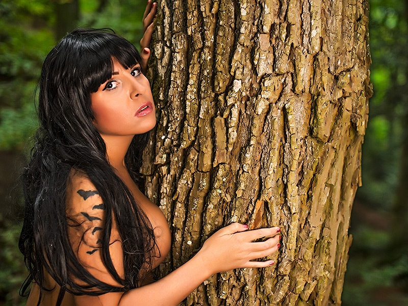 Woman and the tree by gordan.kos
