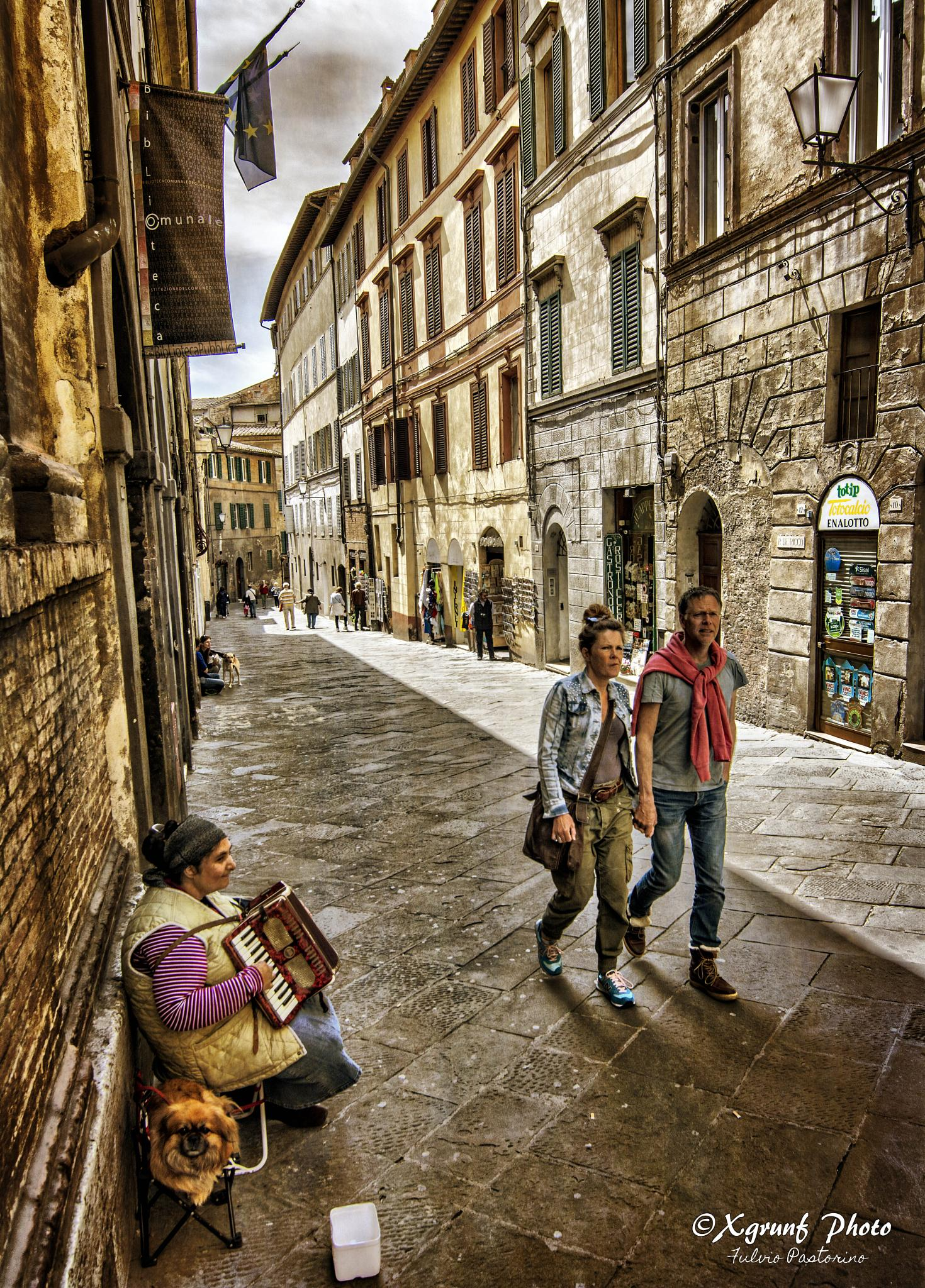 Photo in People #hdr #siena #italy #music #street