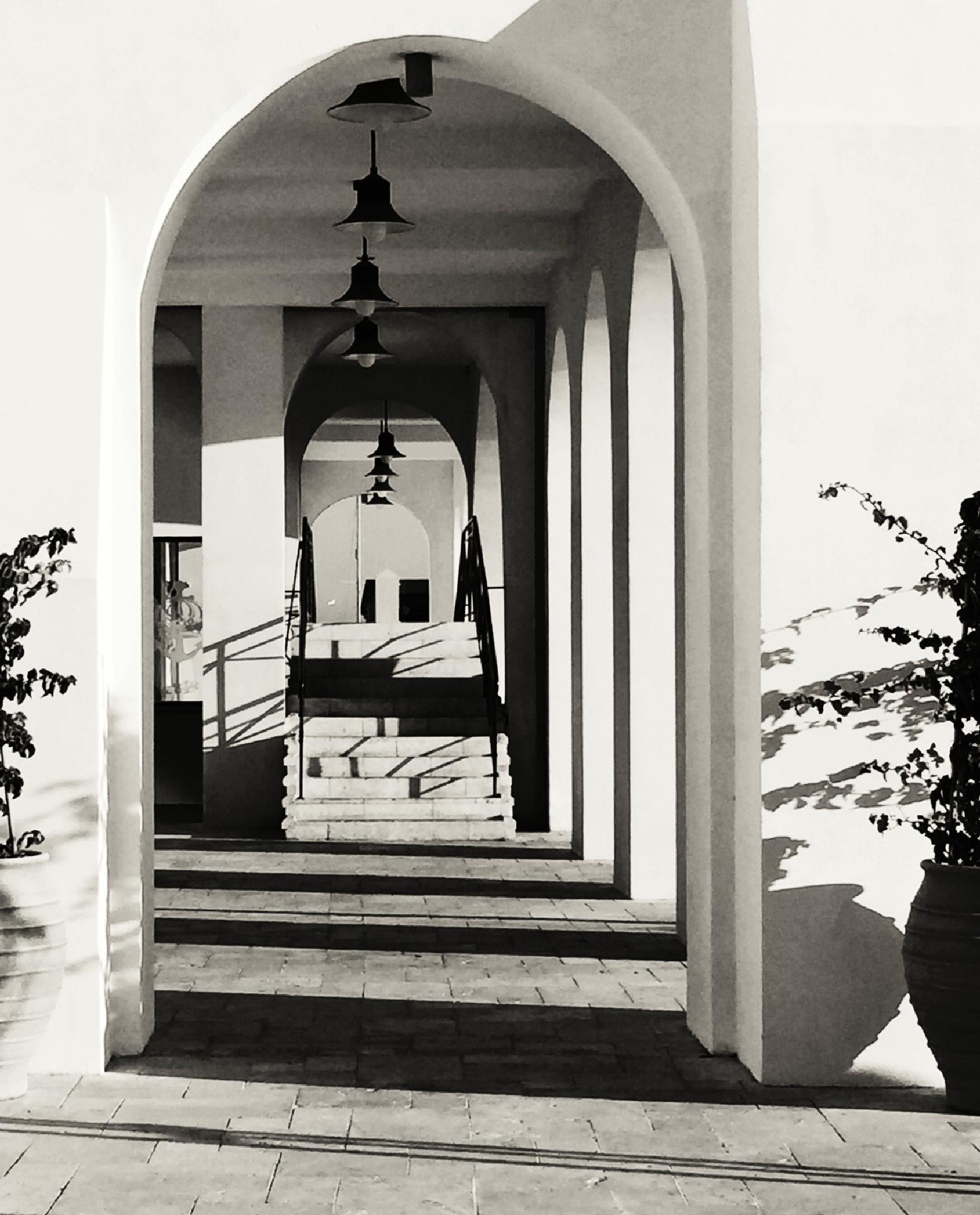 The stairs, in Black and white by Gayle