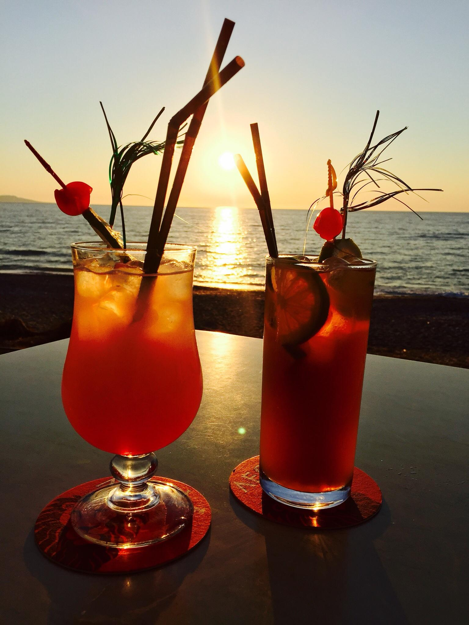 Cocktails at Sunset by Gayle