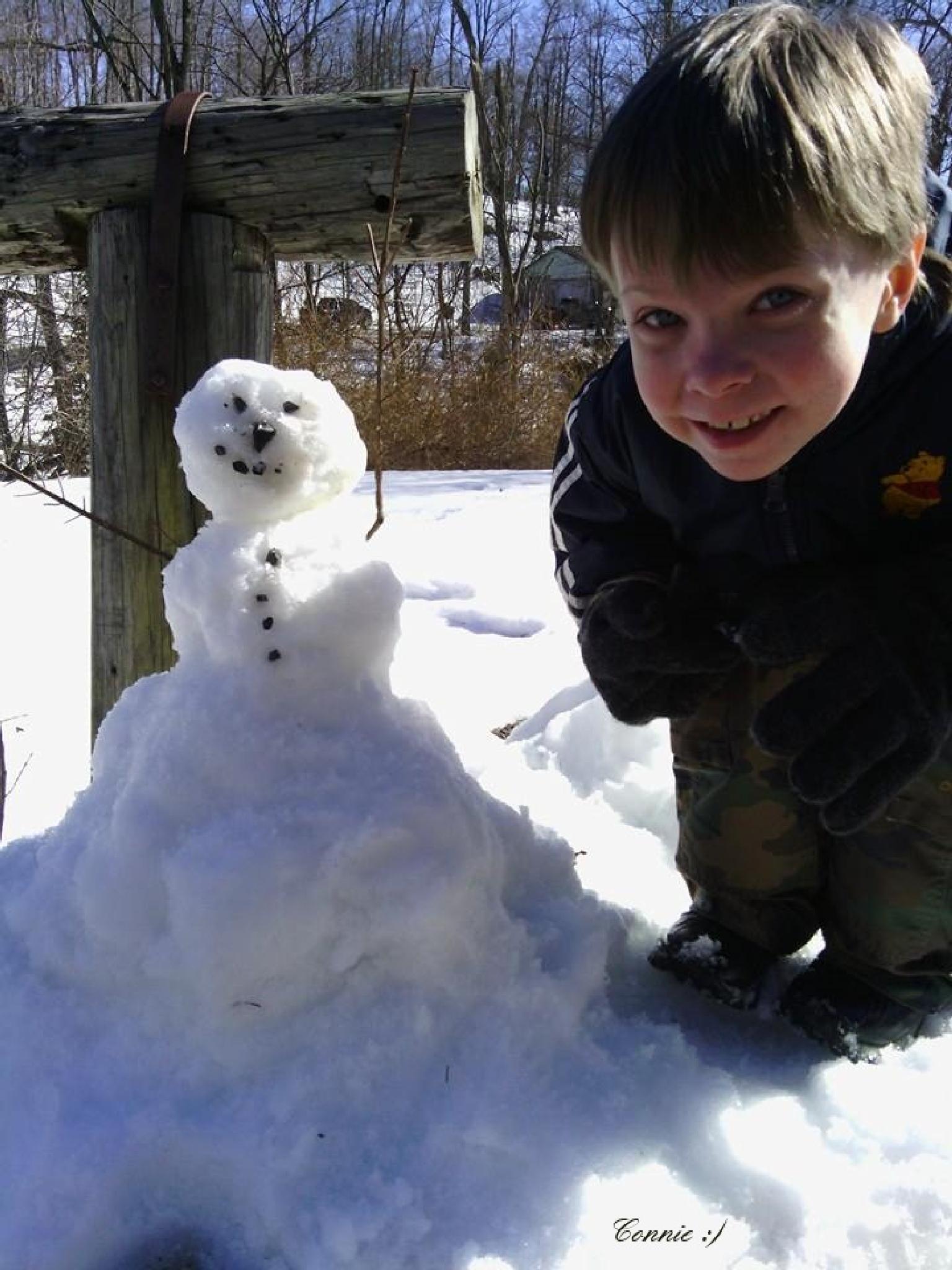 Photo in Random #first time #snowman #winter