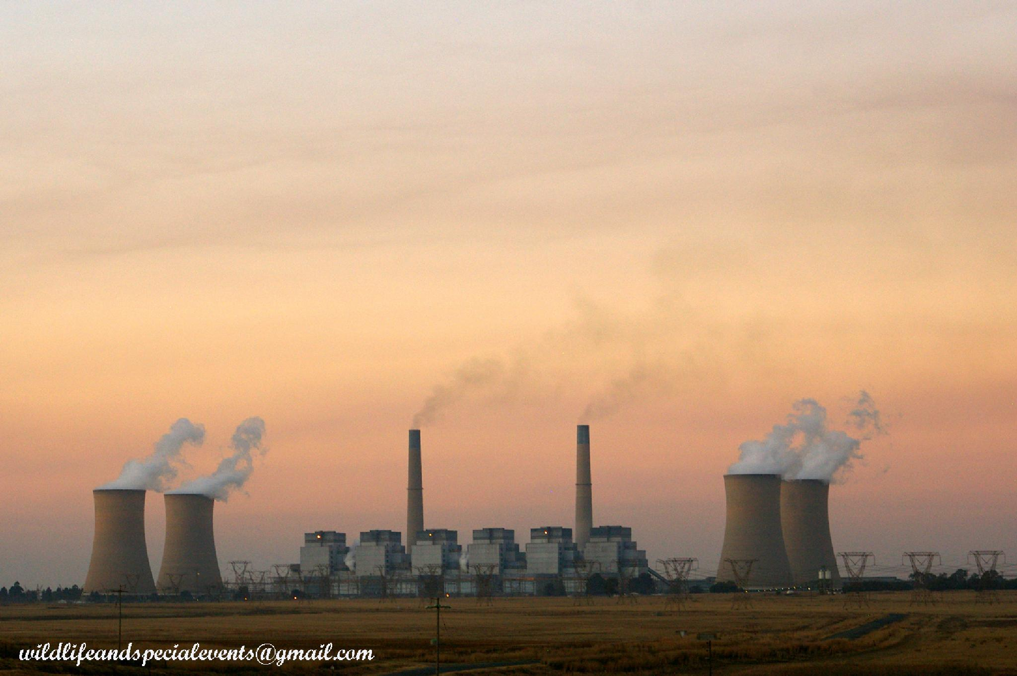 African Power Plant at Sunrise by oosie