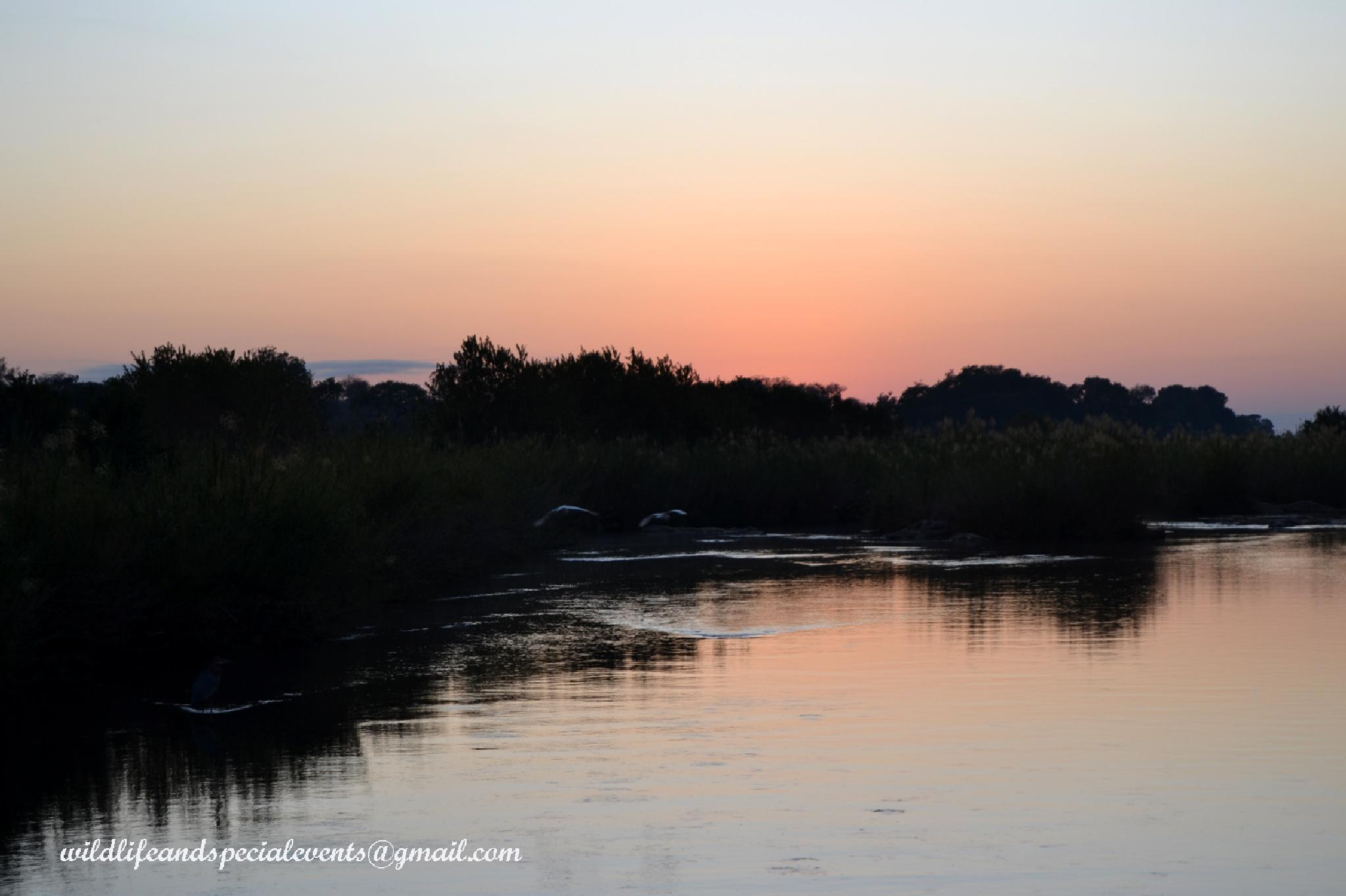 African river at Sunrise by oosie