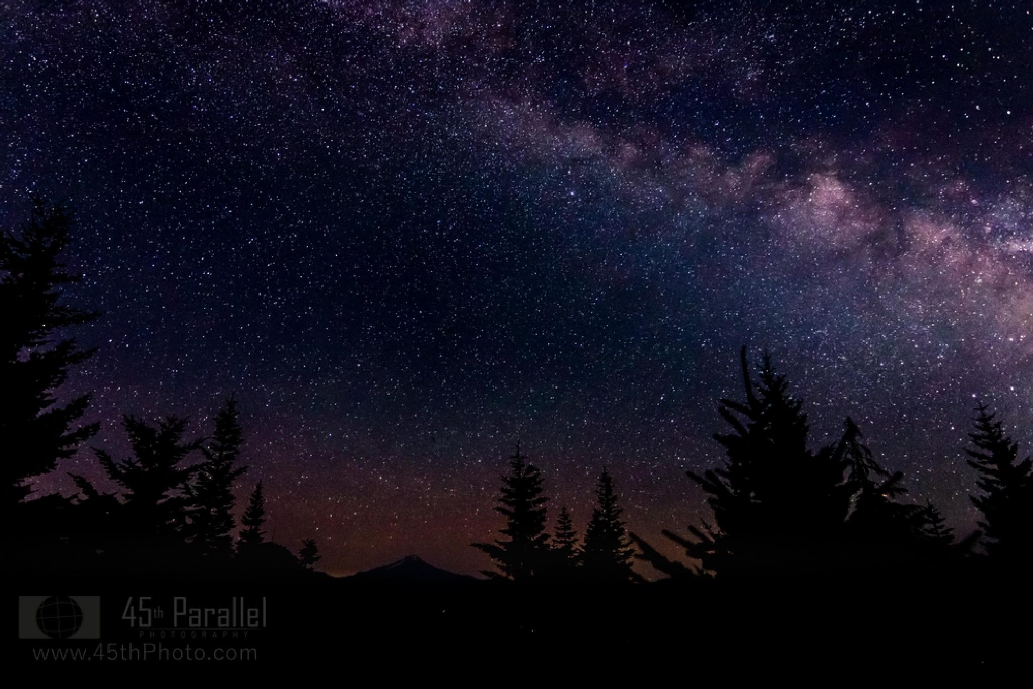Photo in Astrophotography #milky #way #stars #night #mountain #oregon #sky