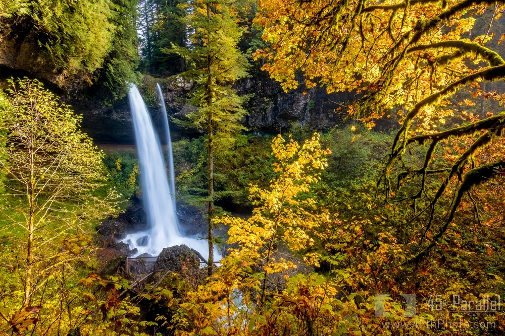 North Falls Surrounded by the Colors of Fall by 45th Parallel Photography