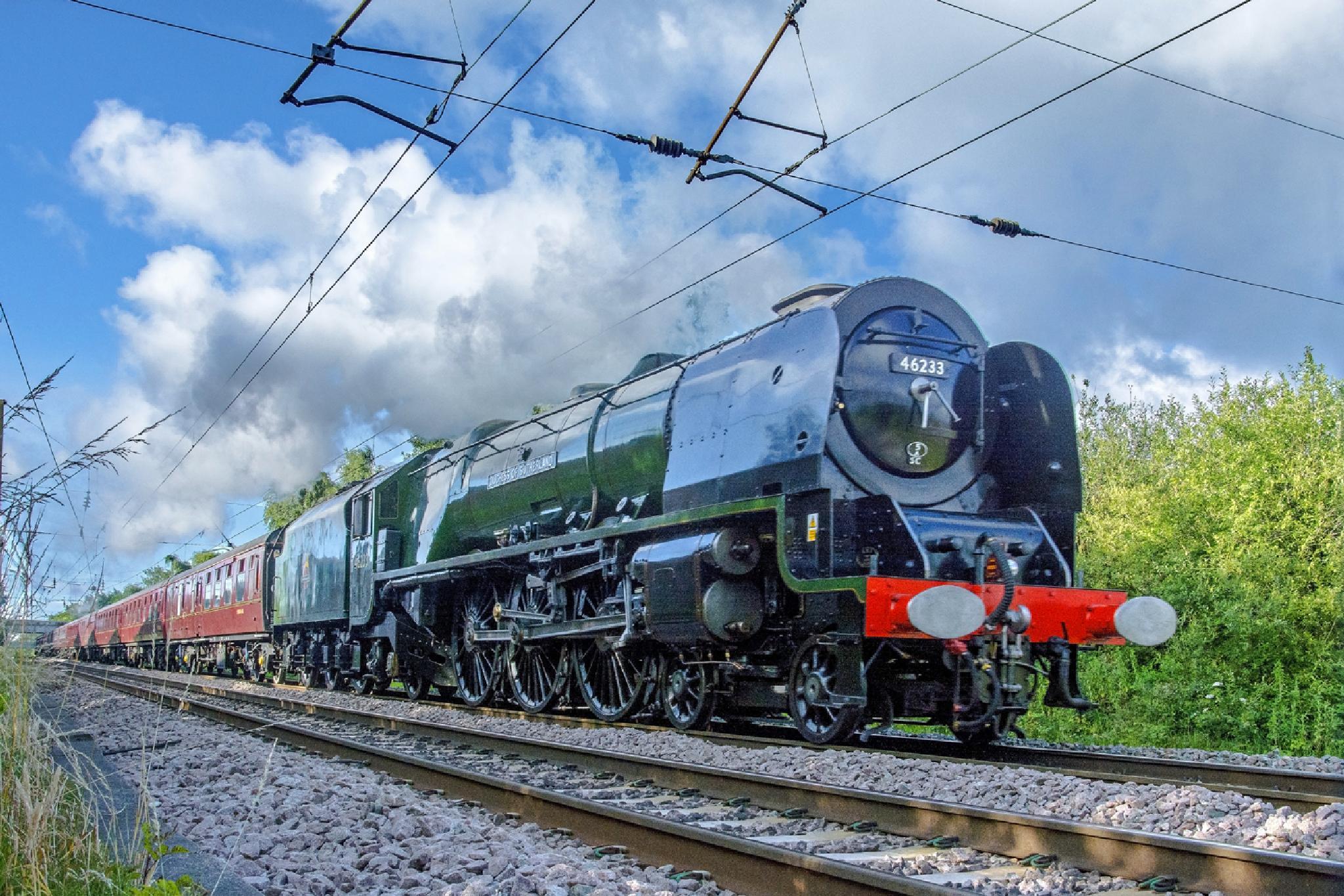 Photo in Vehicle #duchess of sutherland #steam train #preserved steam