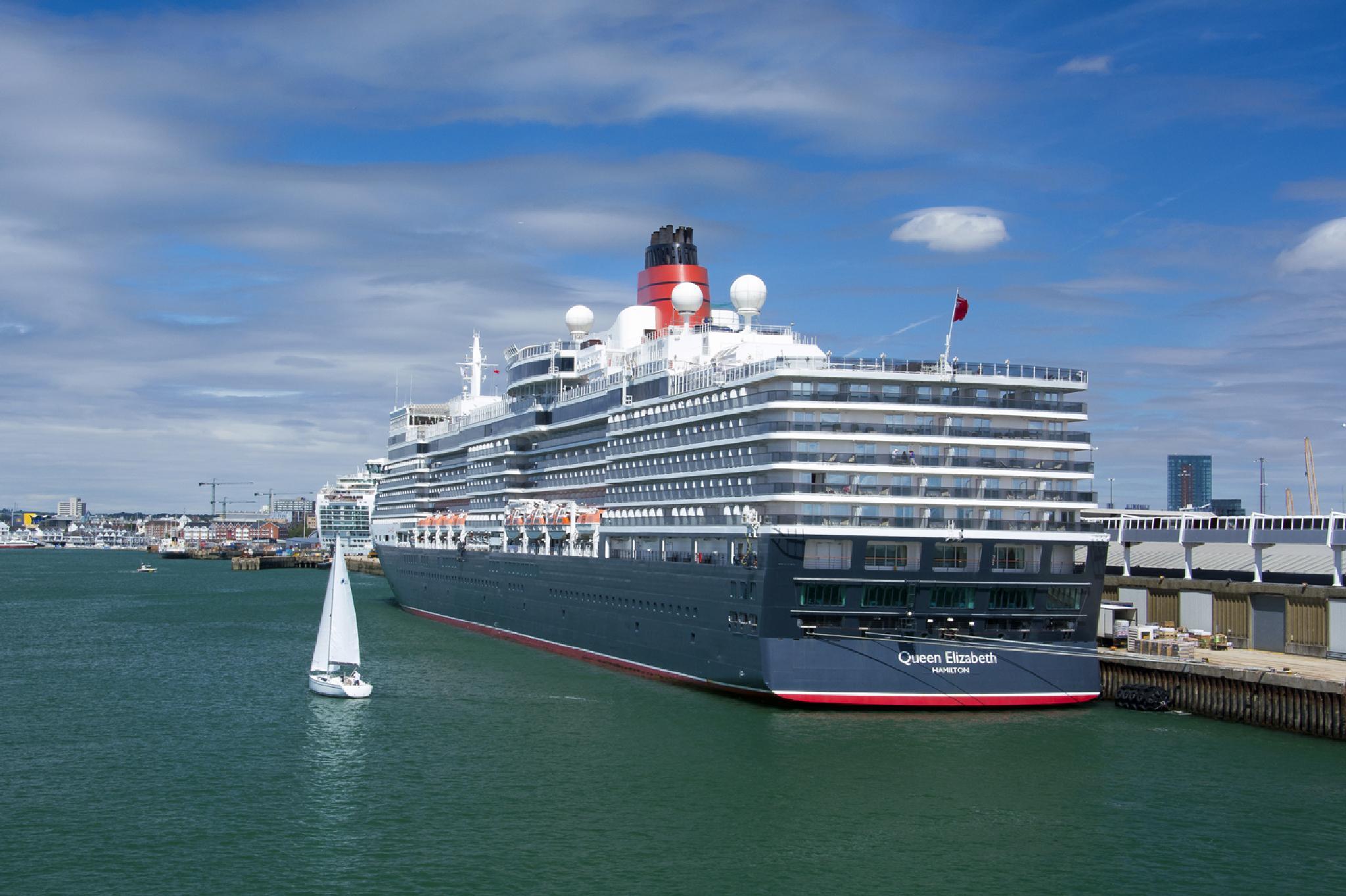 Queen Elizabeth in Her Home Port , Southampton by john.cobham.7