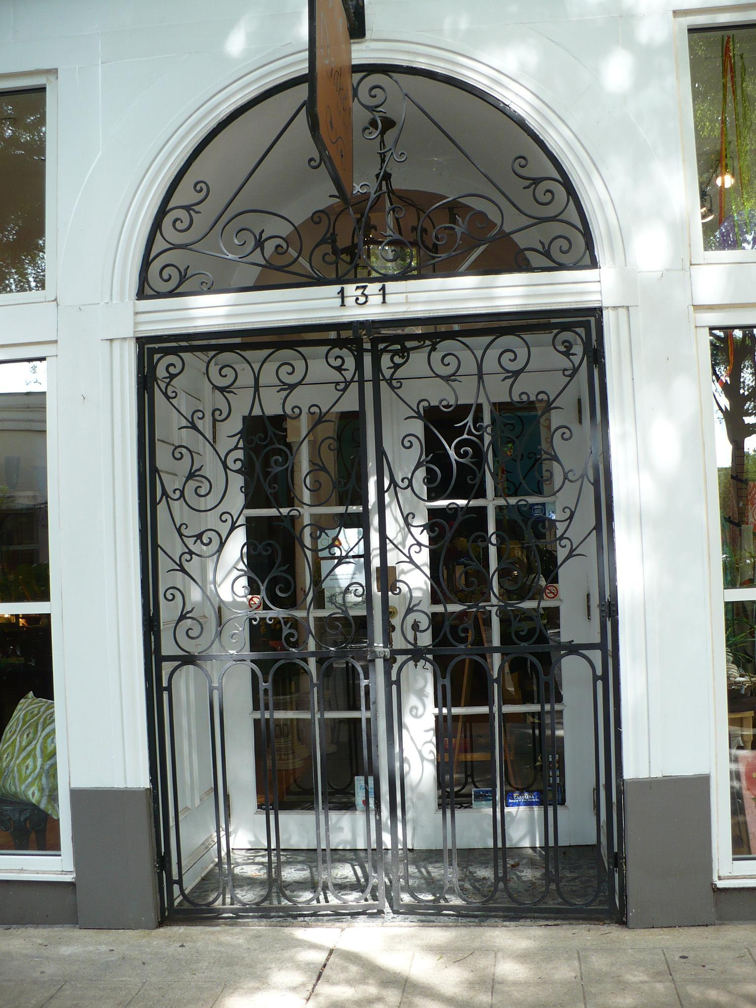 Door - Downtown Greenville, SC by Joan Barrett