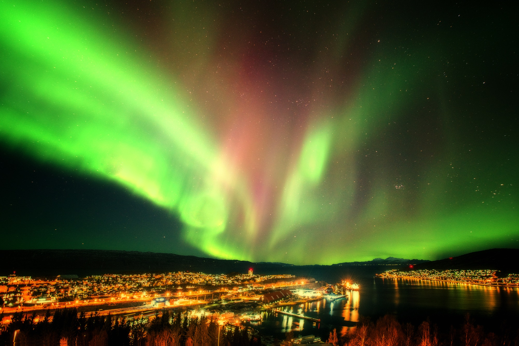 Photo in Astrophotography #norway #narvik #'aurora #night #sky #borealis #lofoten #arctic #landscapes #stars