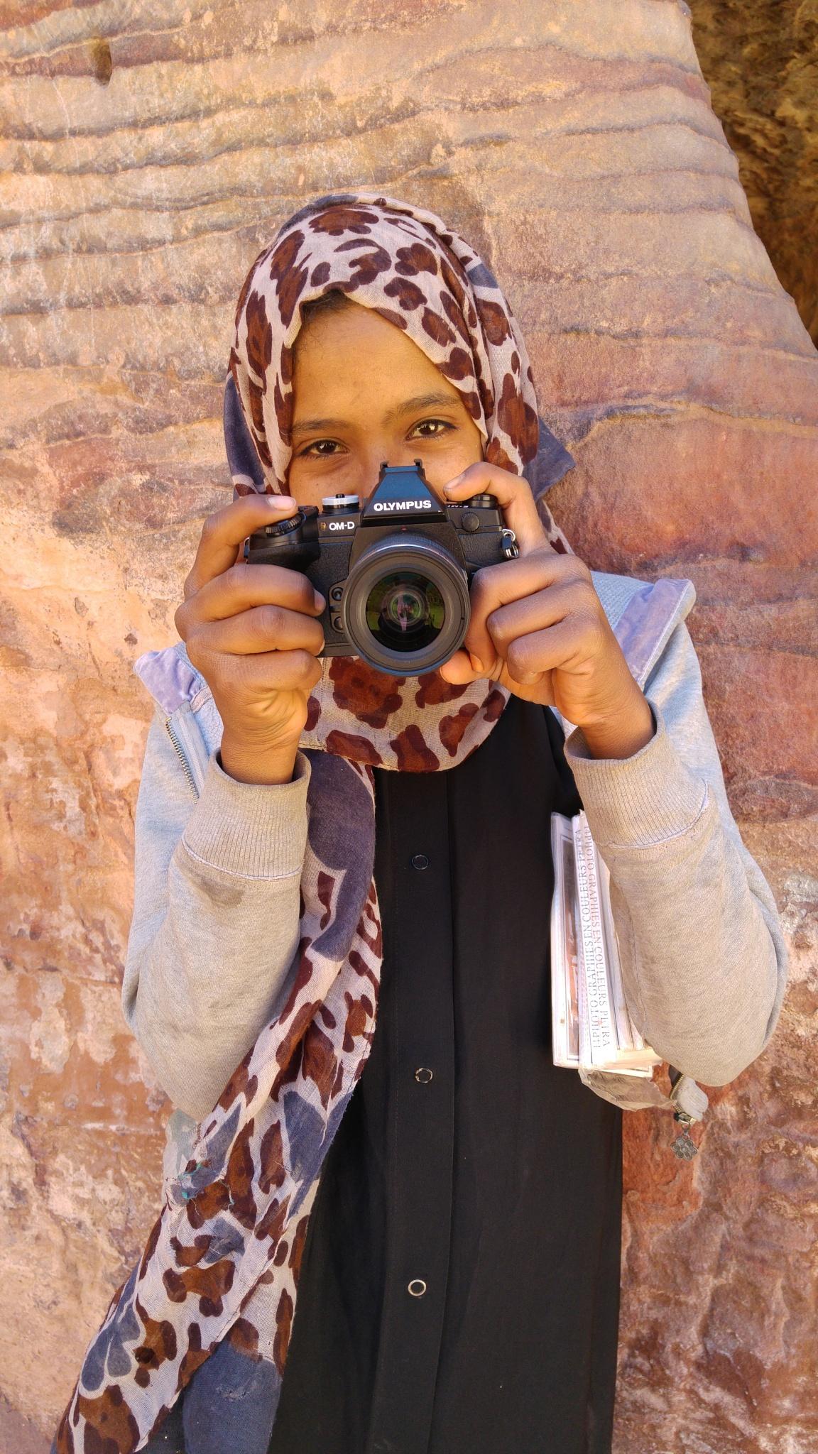 Petra Girl by Hezi Shohat