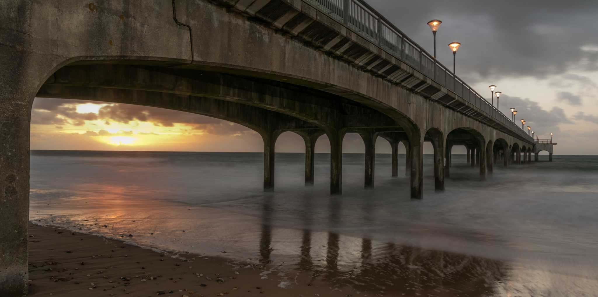 Boscombe pier sunrise  by mark.usher.uk