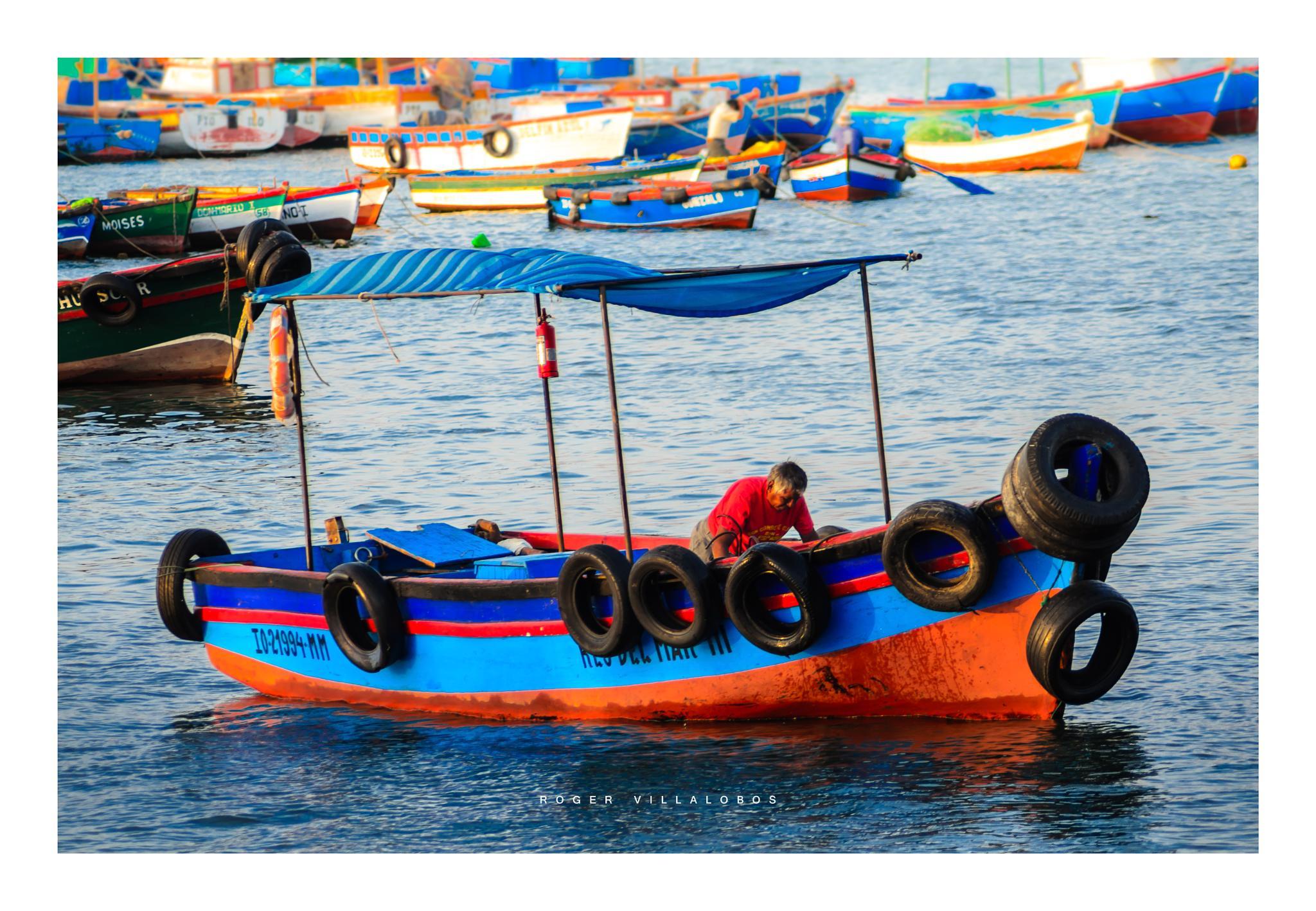 Photo in Landscape #fisherman #ilo #port #puerto