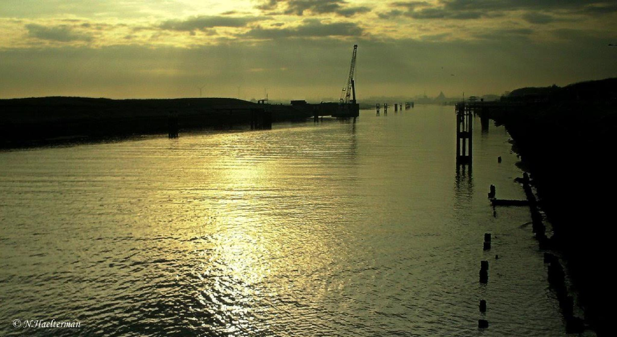 De zee met zijn gouden zonnegloed... by nelly.haelterman