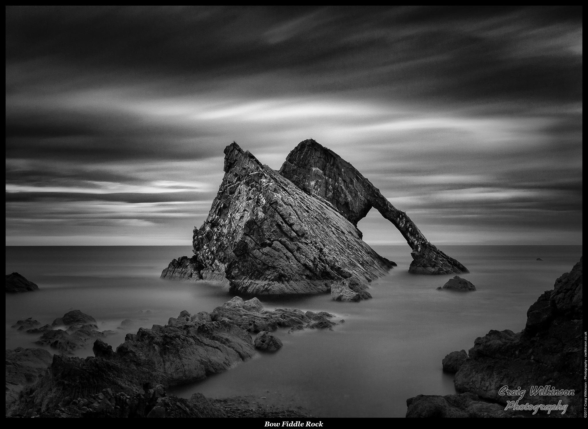 Bow Fiddle Rock , Portknockie by Craig Wilkinson