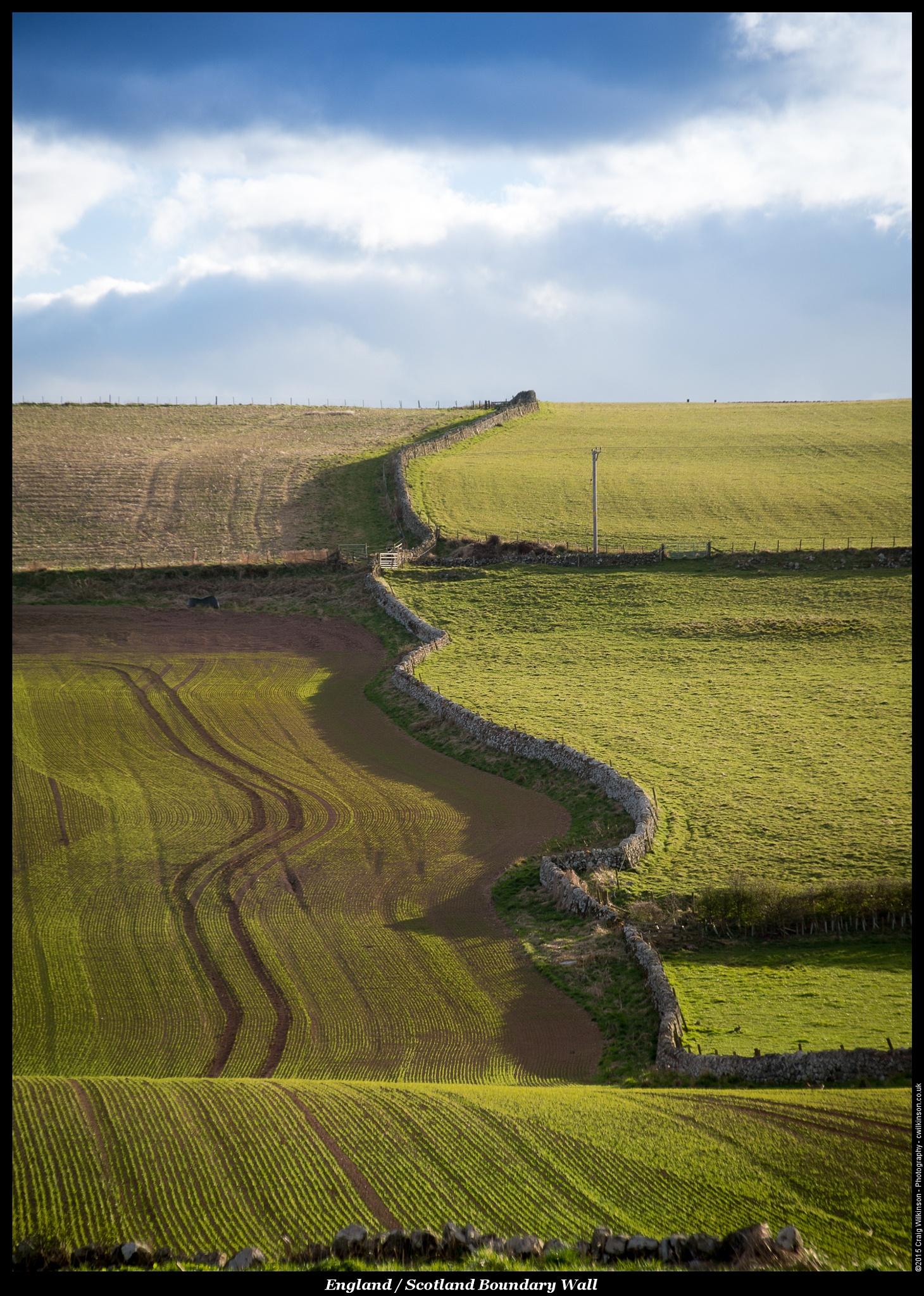 England / Scotland Border by Craig Wilkinson