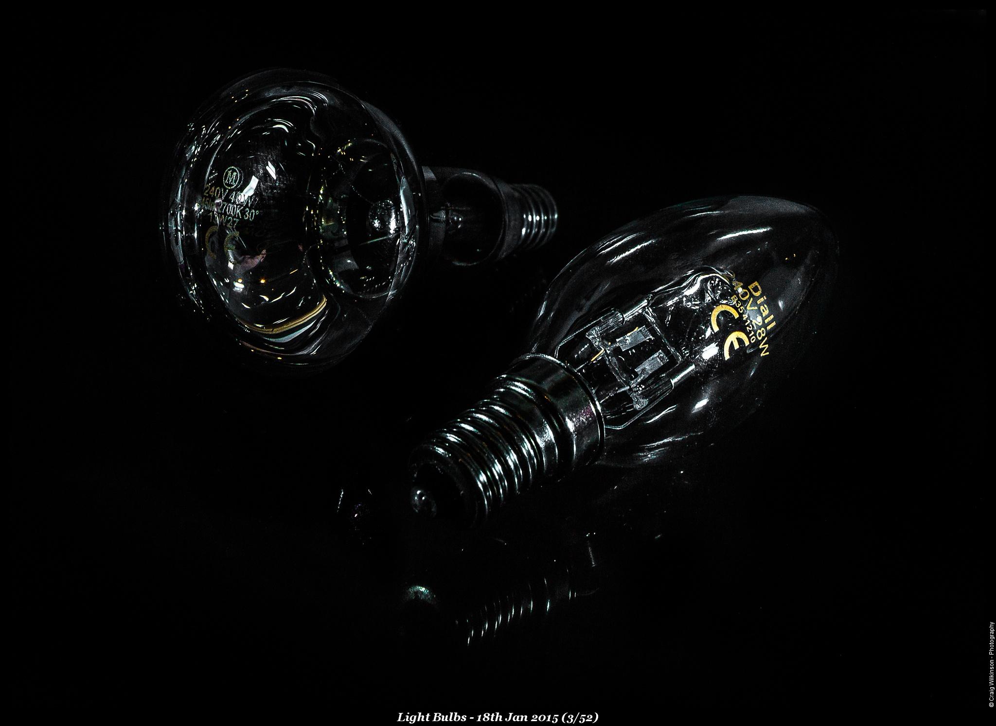 Lightbulbs by Craig Wilkinson