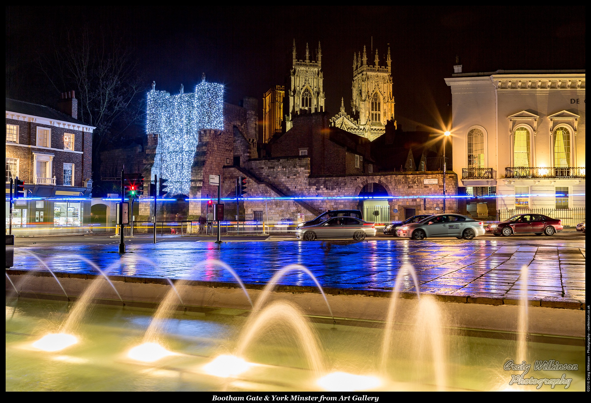 Bootham Gate & York Minster from Art Gallery by Craig Wilkinson