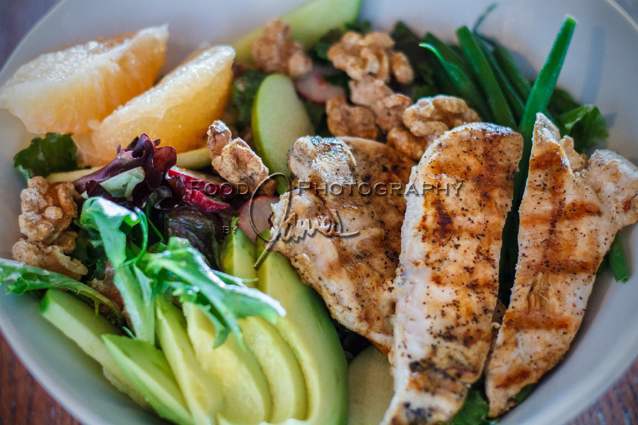 Grilled Chicken, Avocado, & Grapefruit-Salad by James Stefiuk