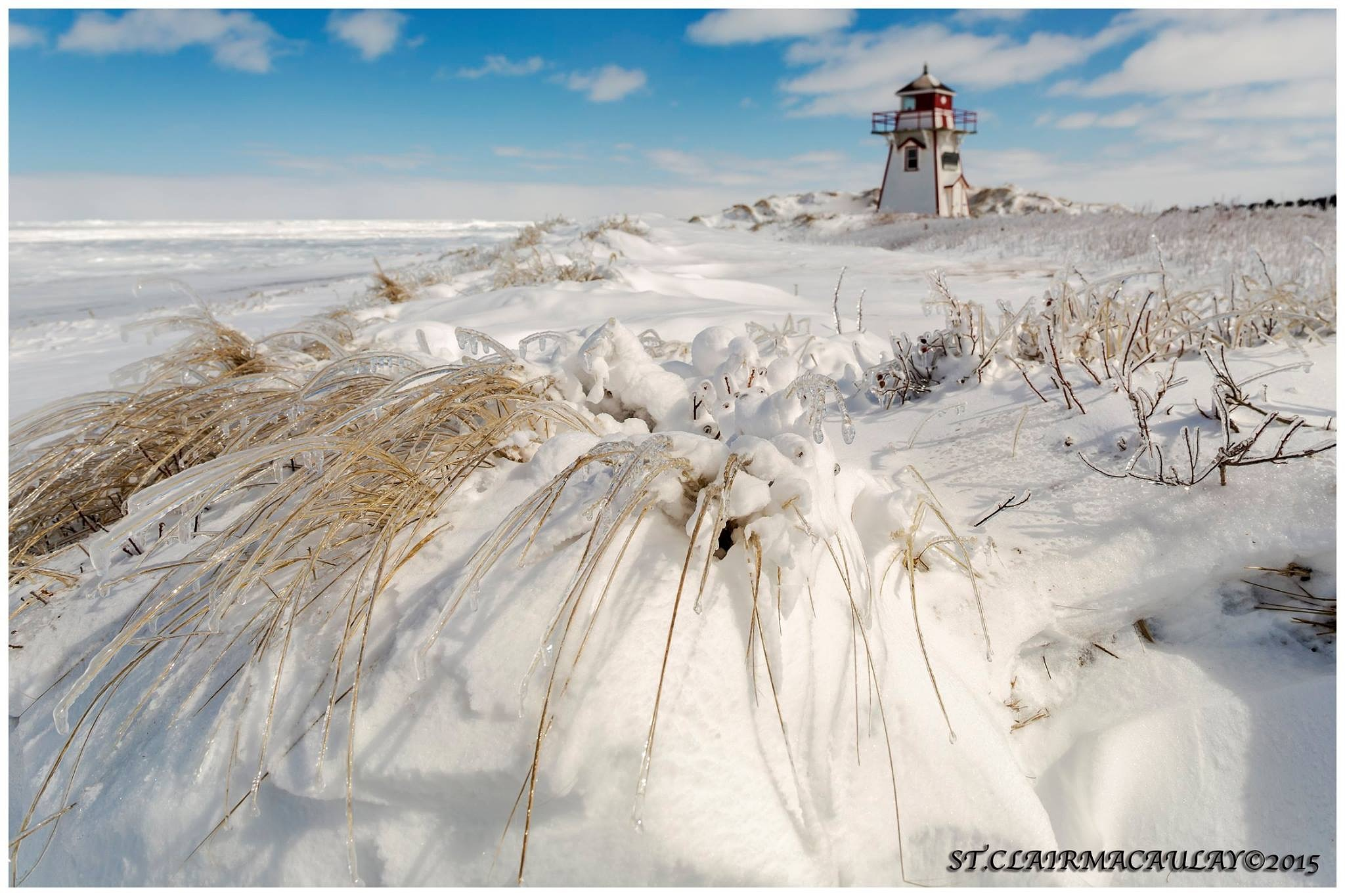 Winter lighthouse  by stclairmac